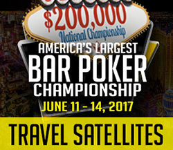 BAR POKER OPEN - TRAVEL SATELLITES